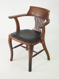 Oak Desk Chair Or Captains Chair - Antiques Atlas