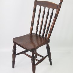 Solid Wood Kitchen Chairs Track For Wounded Warriors Pair Antique Victorian - Antiques Atlas