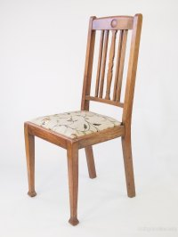 Set 4 Oak Dining Chairs - Antiques Atlas