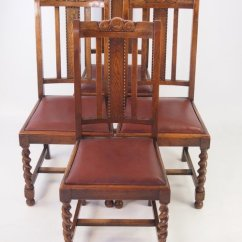 Vintage Wooden Dining Chairs Folding Floor Chair India Set 4 Oak Circa 1920s Antiques Atlas