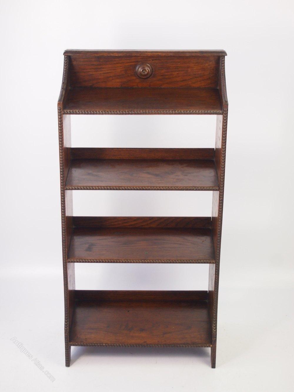 Small Edwardian Oak Open Bookcase  Antiques Atlas