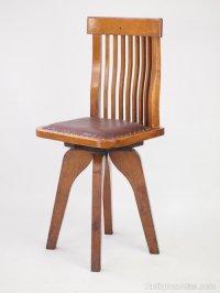 Small Oak Swivel Desk Chair - Antiques Atlas