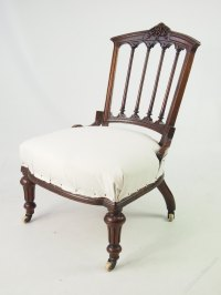 Small Victorian Chair Or Dressing Table Chair - Antiques Atlas