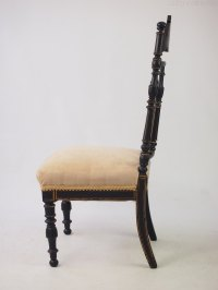 Victorian Japanned Side Chair Dressing Table Chair ...