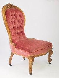 Victorian Walnut Button Back Nursing Chair - Antiques Atlas