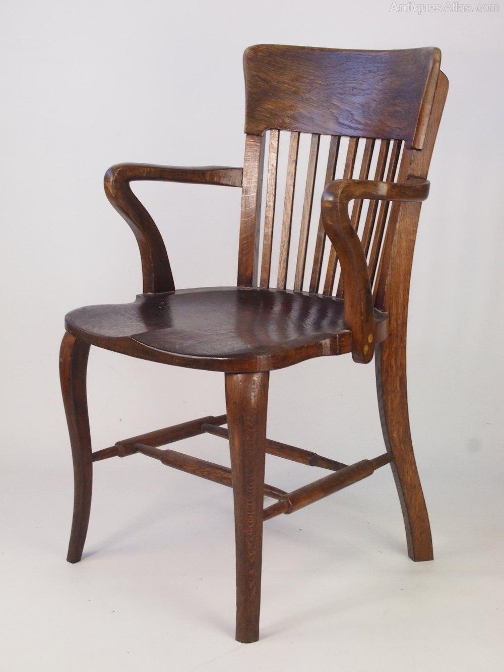 Vintage Oak Desk Chair  Antiques Atlas