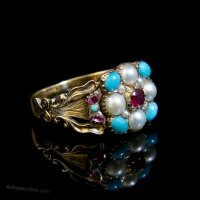Antiques Atlas - Antique Georgian Turquoise Pearl And ...