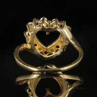 Antiques Atlas - Garnet And Opal Heart Ring 9ct Gold