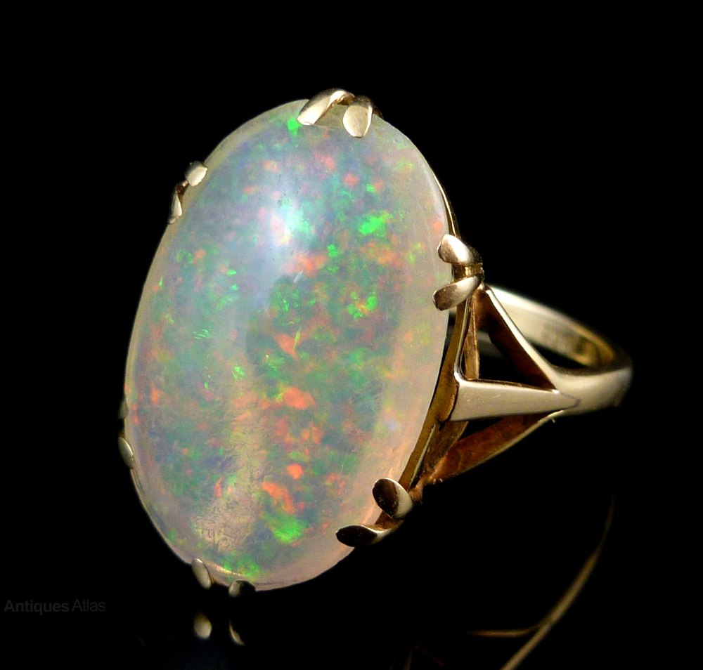 Antiques Atlas  Victorian 12ct Natural Opal 18ct Gold Ring