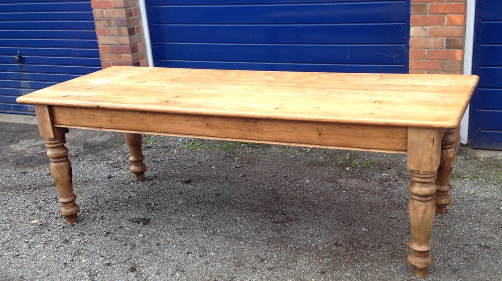 Large Victorian Farmhouse Table Pine Seats 10 Antiques Atlas