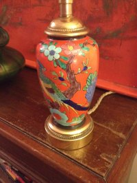 Antiques Atlas - Oriental Hand Painted Lamp In Porcelain