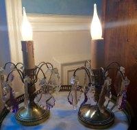 Antiques Atlas - Pair 1920 Dressing Table Lamps