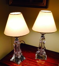 Antiques Atlas - Pair 1940 Dressing Table Lamps Cristal De ...