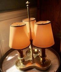 Antiques Atlas - Romantic Triple Light Bistrot Lamp 1920