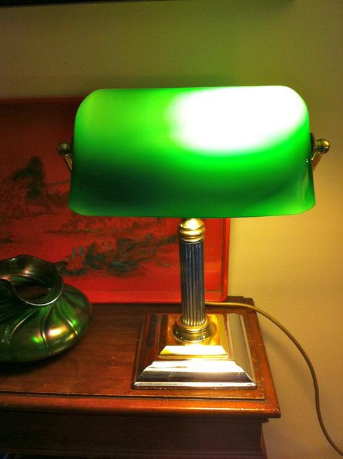 Antiques Atlas  Vintage Bankers Lamp