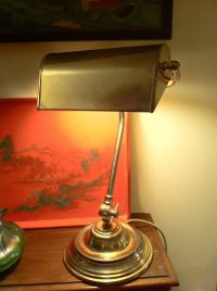 Antiques Atlas - Antique Desk Bankers Lamp In Brass