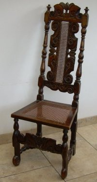 A William And Mary High Back Chair - Antiques Atlas
