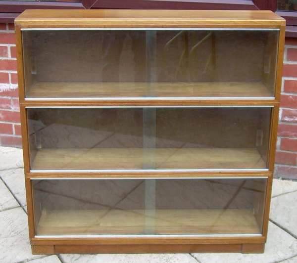 Antique Bookcase with Glass Front