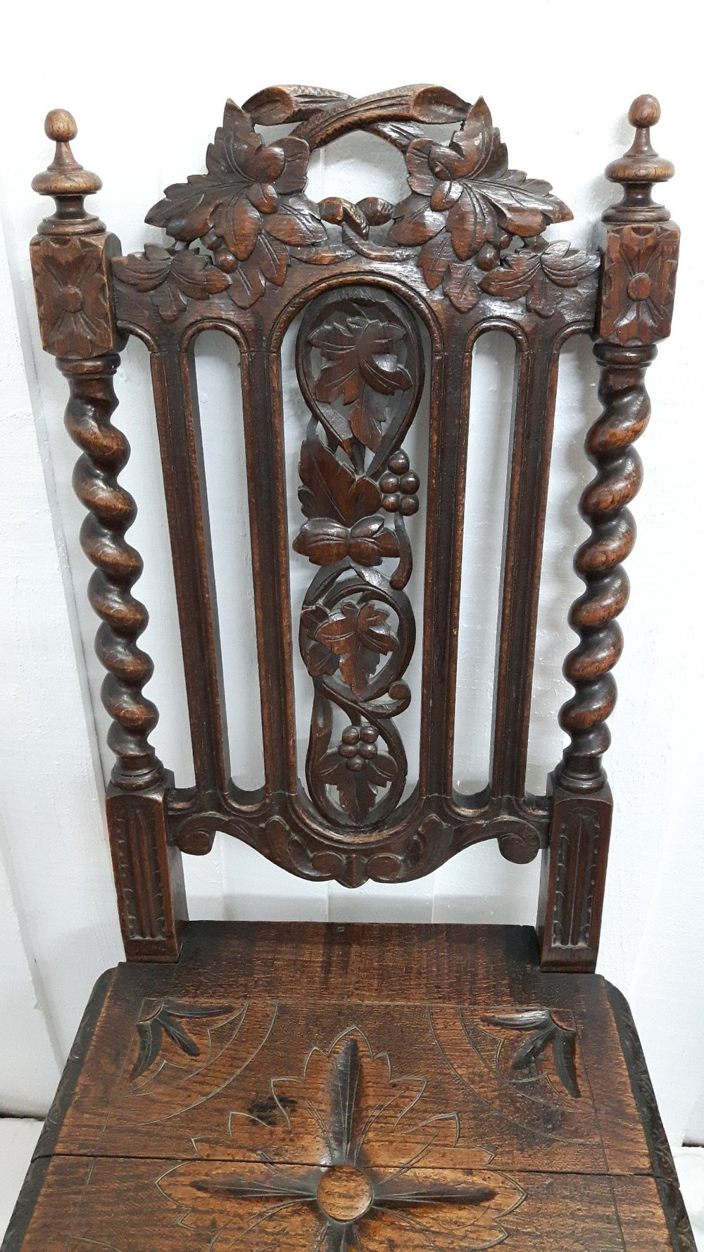 z chair for sale outdoor wood chairs diy victorian oak carved hall - antiques atlas