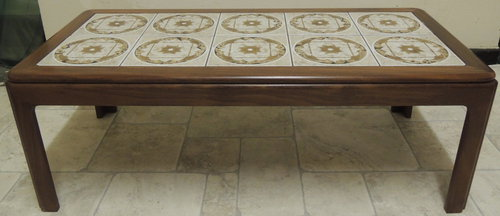 antiques atlas - retro g-plan tile-top rectangular coffee table