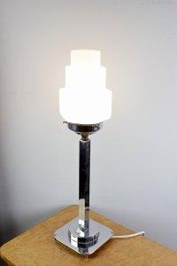 Antiques Atlas - Art Deco Chrome Table Lamp C1930's