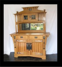 Classic Arts And Crafts Sideboard Pewter And Ebony