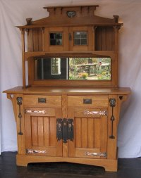 Classic Arts And Crafts Sideboard Pewter And Ebony ...