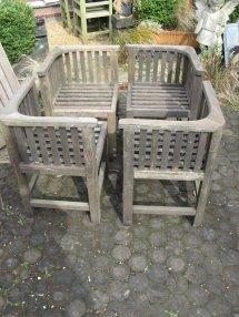 Antiques Atlas - Four Vintage Teak Garden Chairs Hughes
