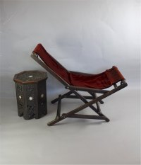 Interesting Late C19th Campaign Rocking Chair - Antiques Atlas