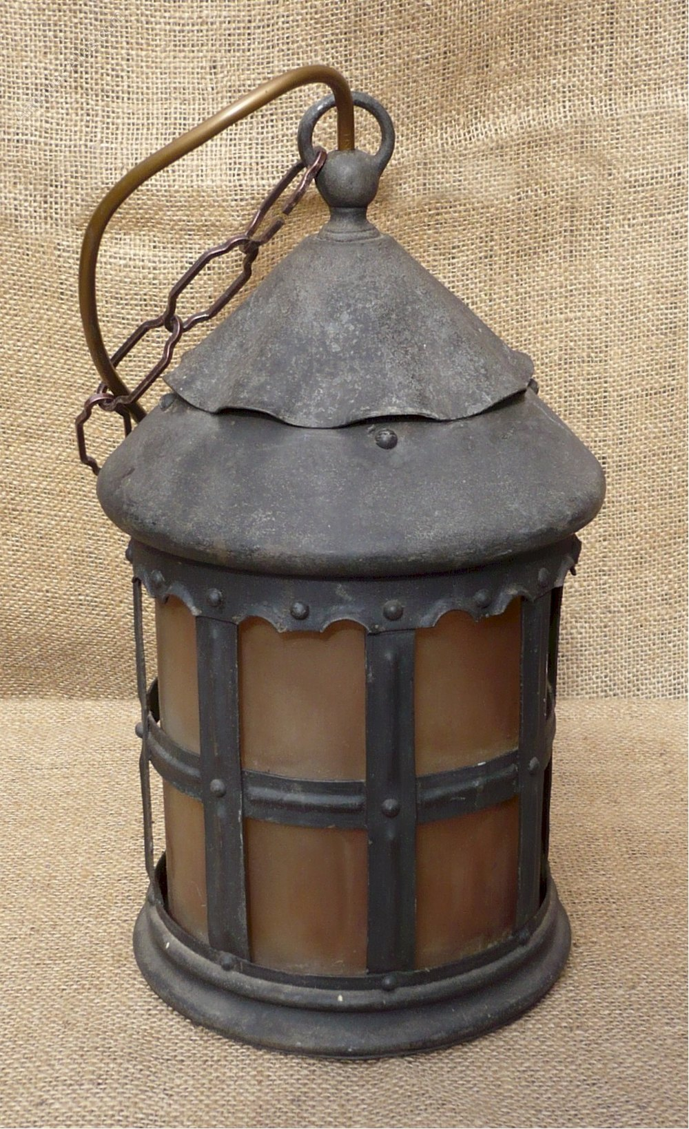 Antiques Atlas  Iron Porch Light With Glass Liner