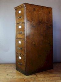 Vintage Oak Filing Cabinet By Shannon C1920 - Antiques Atlas
