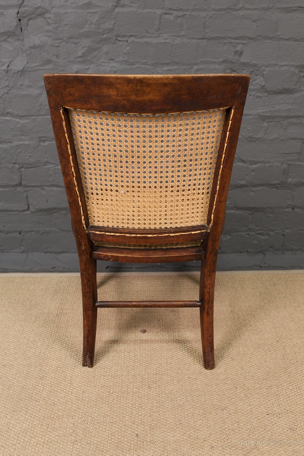 z chair for sale swivel high baby 19th century cane back - antiques atlas