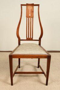 Art Nouveau Inlaid Mahogany Chair