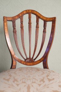 Antiques Atlas - Mahogany Hepplewhite Style Shield Back Chair