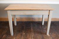 Solid Oak Painted Kitchen Table - Antiques Atlas
