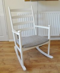 Antiques Atlas - Danish Rocking Chair Mid Century