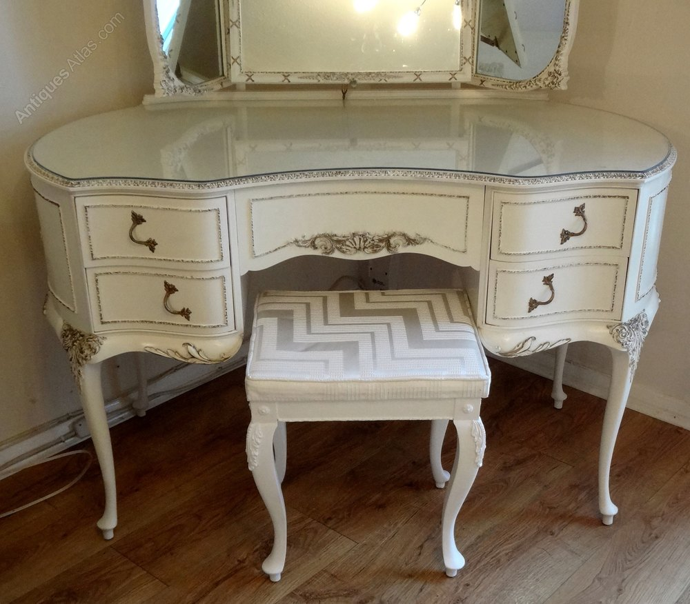 Antiques Atlas French Painted Dressing Table Amp Stool