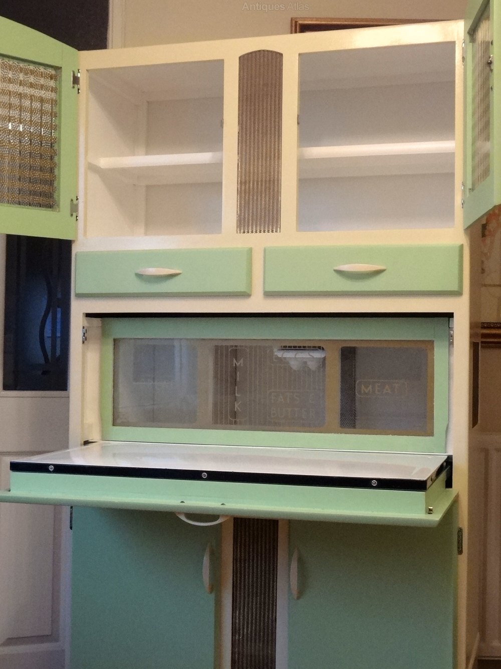 free standing kitchen larder cupboards embroidered towels antiques atlas - mid century retro cabinet