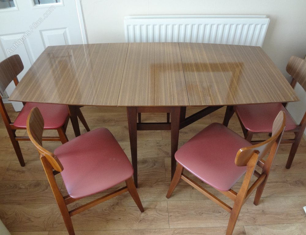 1950s formica kitchen table and chairs bulbs antiques atlas - retro dining &