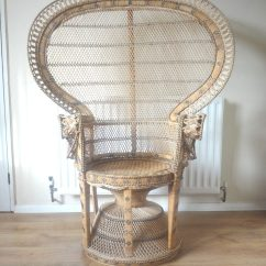 Fan Back Wicker Chair Svan Signet High Antiques Atlas - Retro Peacock