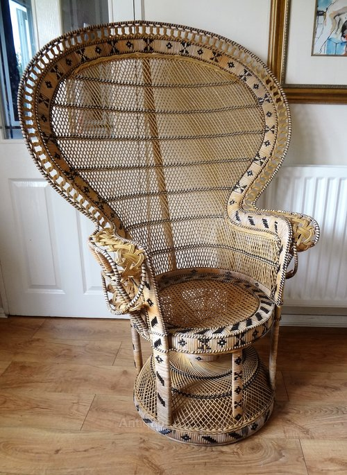 vintage peacock chair wood desk chairs without wheels antiques atlas retro