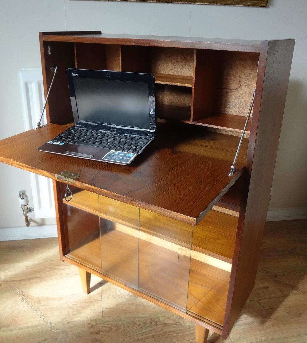 Antiques Atlas  Retro Teak Writing Bureau Desk
