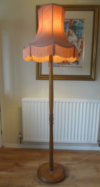 Antiques Atlas - Standard Lamp & Silk Shade