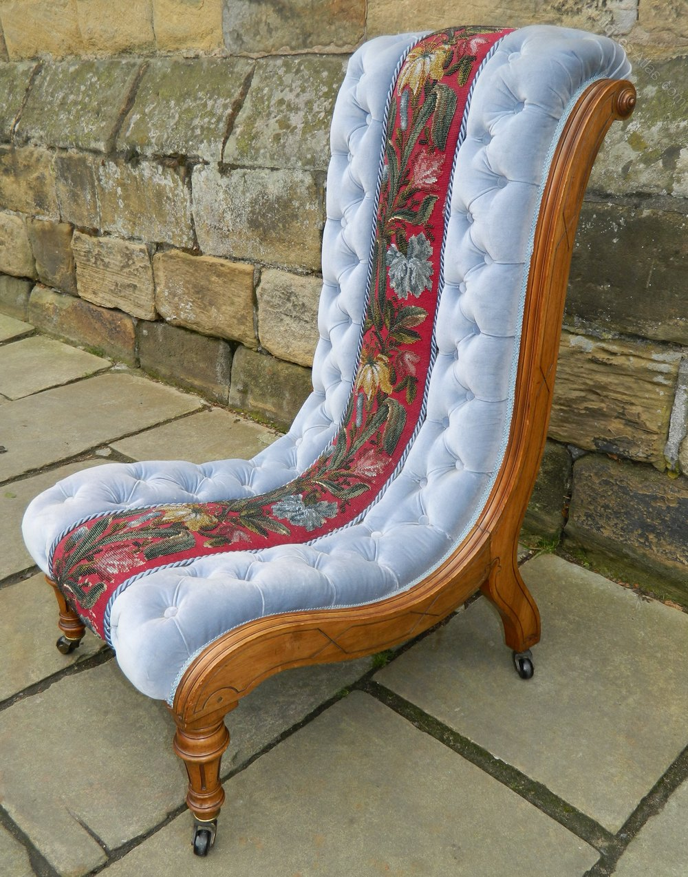 Victorian Slipper Chair  Antiques Atlas