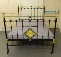 Cast Iron & Brass Bed - Antiques Atlas