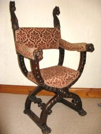 Gothic Carved Oak Chair - Antiques Atlas