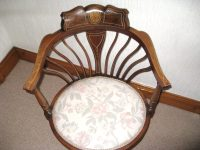 Inlaid Mahogany Corner Chair - Antiques Atlas