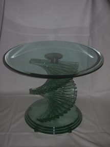 Antiques Atlas - Heavy Glass Spiral Coffee Table