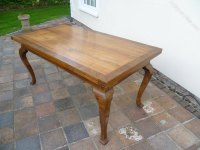 Antique French Walnut Dining Kitchen Table - Antiques Atlas