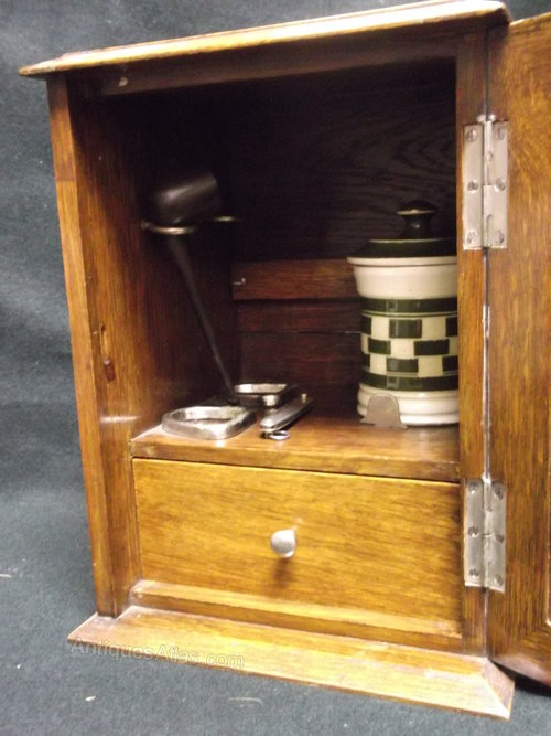 Golden Oak Smokers Cabinet  Antiques Atlas
